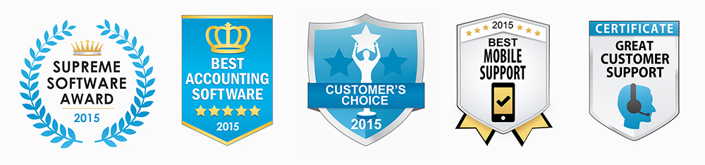 Sample awards and quality certificates offered by FinancesOnline