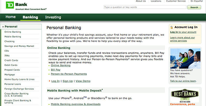 Td Bank Reviews Does Tdbankcom Offer Loans Online For Bad Credit