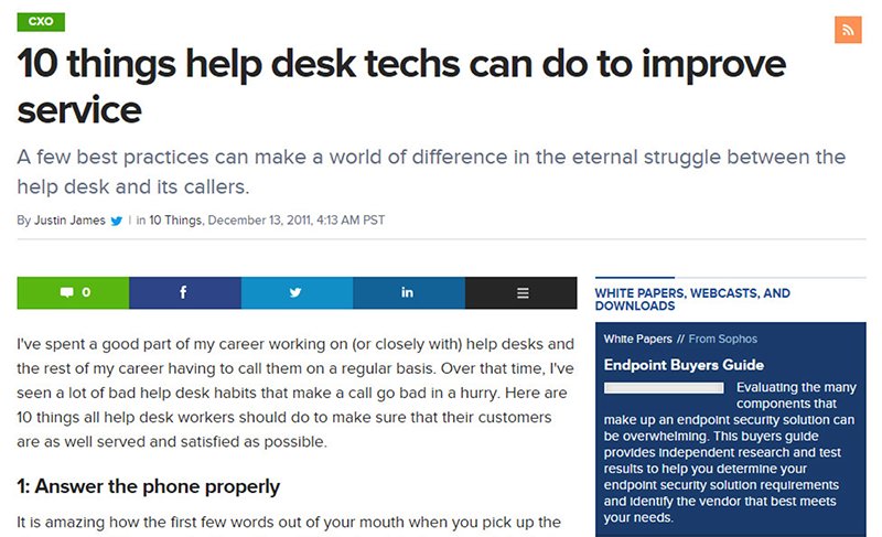 You can write topical articles like this one that relate to your software.