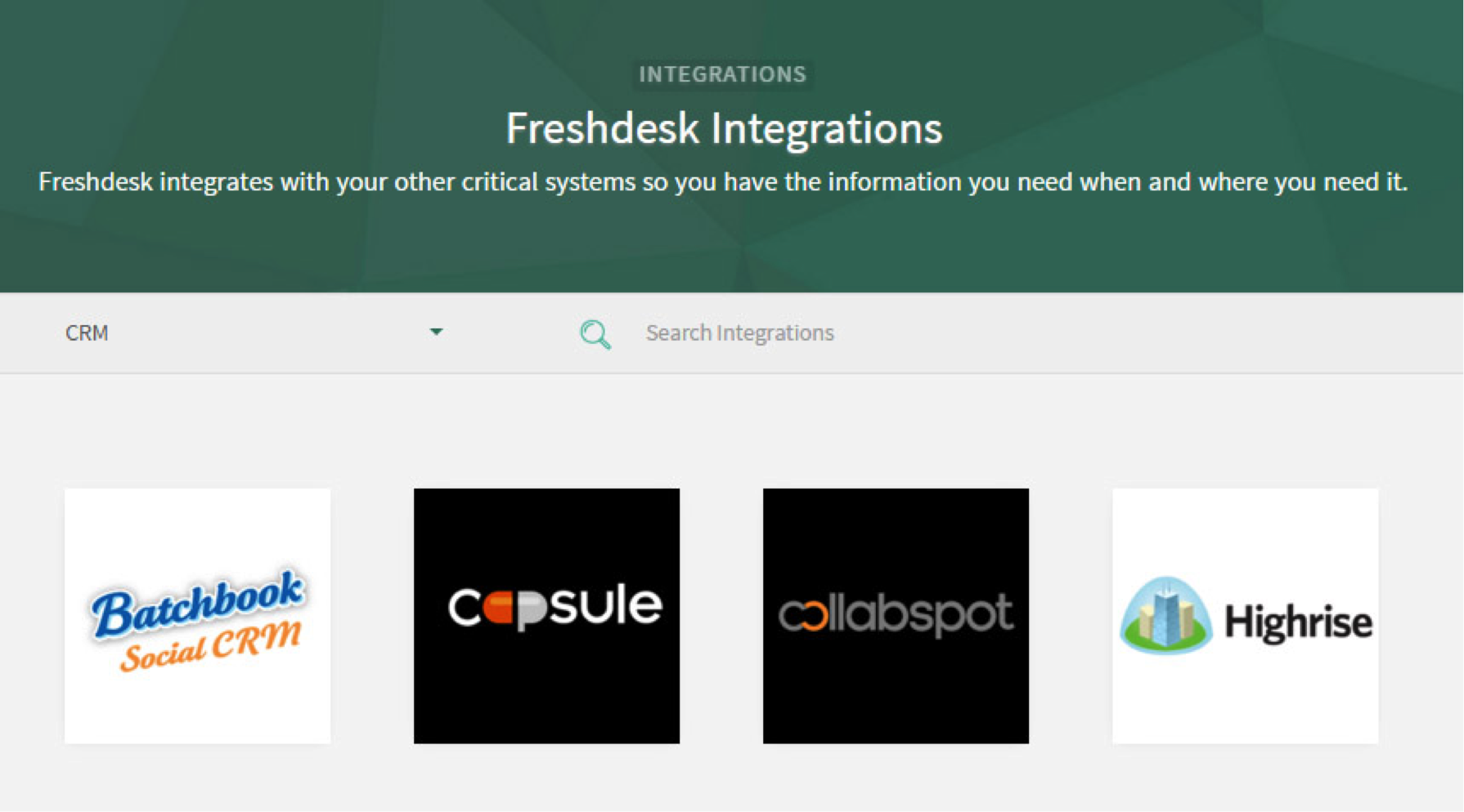 Like Freshdesk, you can work out an alliance partenership with top CRM apps that it integrates with.