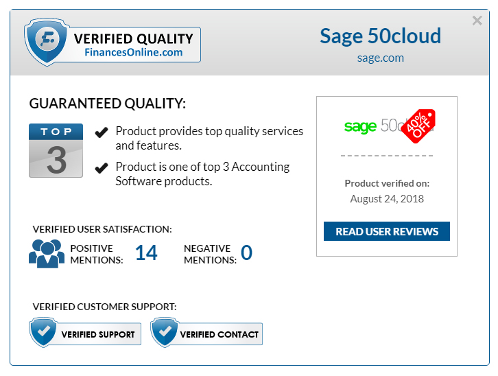 An overview of the Verified Quality Seal details.