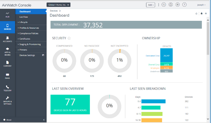 AirWatch MDM Review: Pricing, Pros, Cons & Features