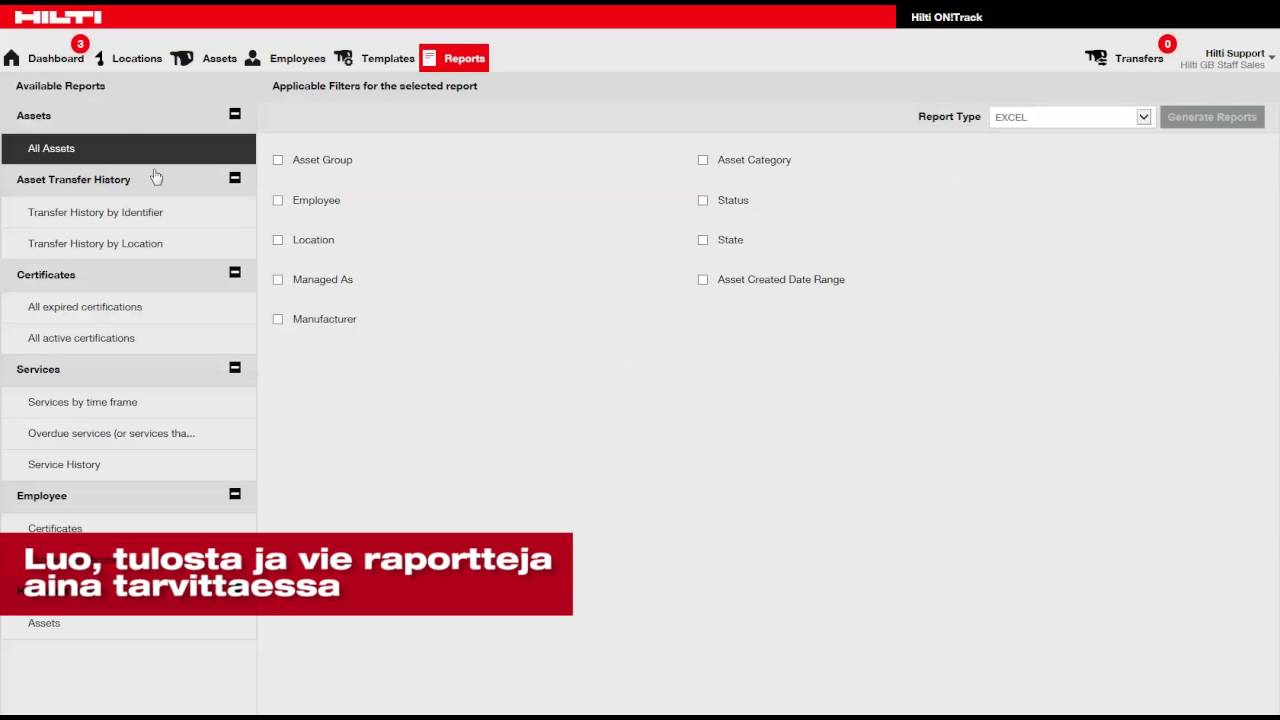 Hilti On Track Dashboard Comparecamp Com