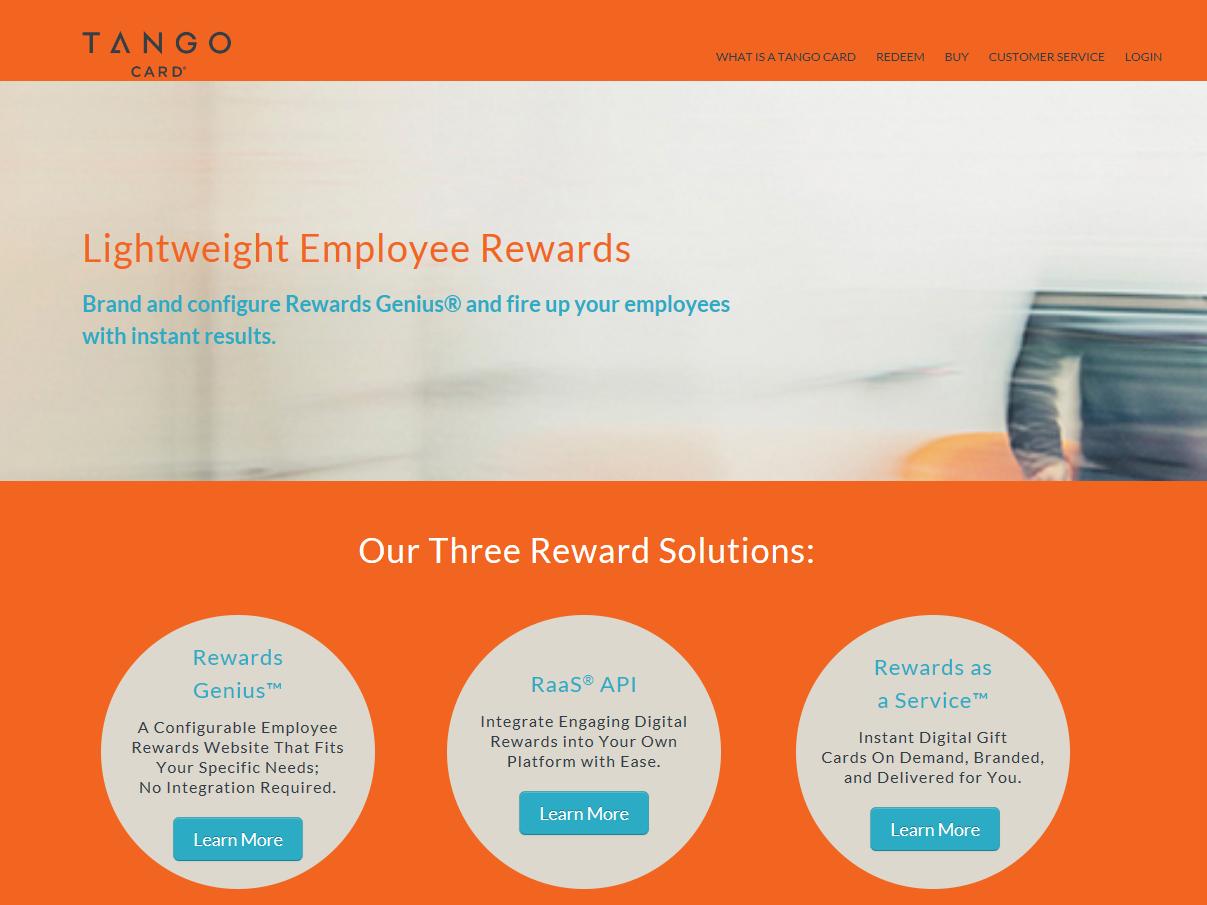 Tango Card Dashboard | CompareCamp com