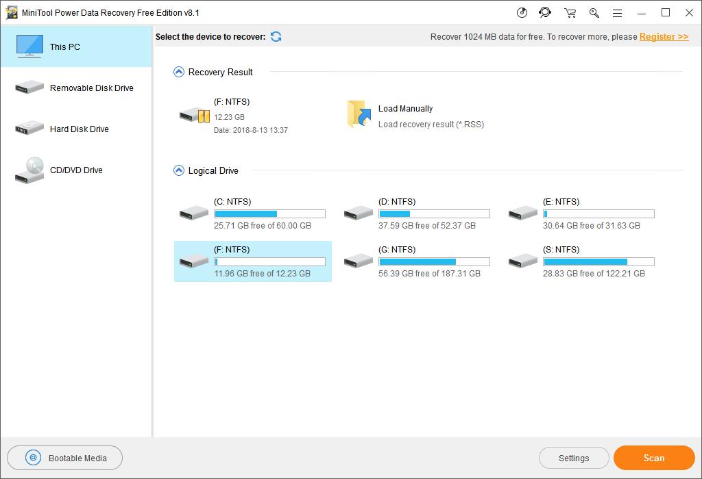 minitool power data recovery pro