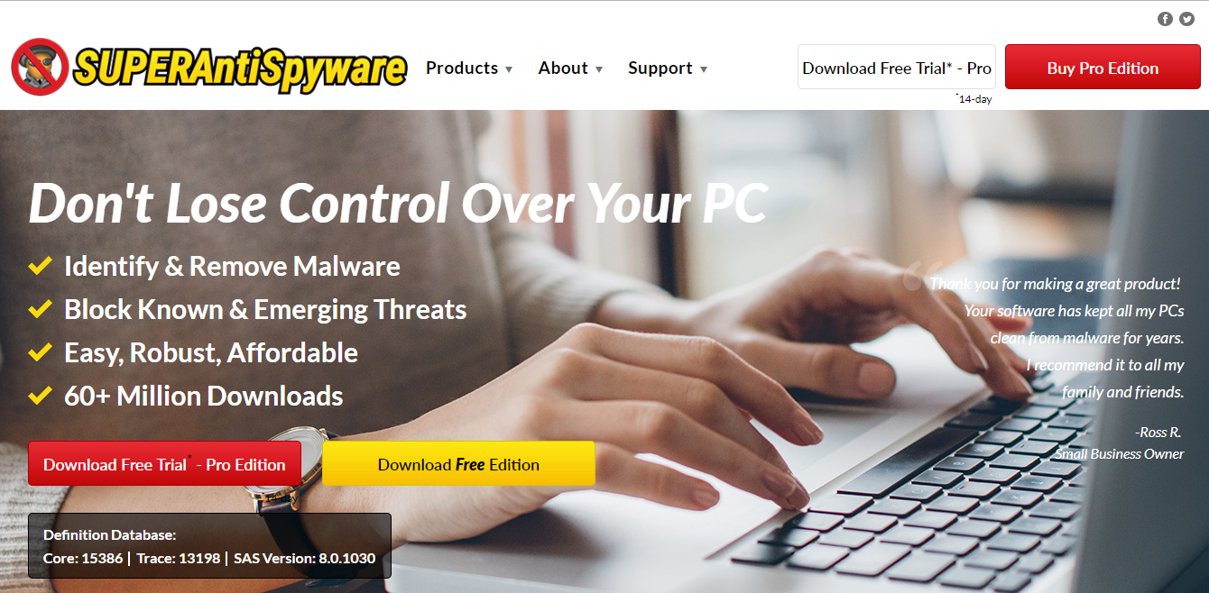 SUPERAntiSpyware Review: Pricing, Pros, Cons & Features