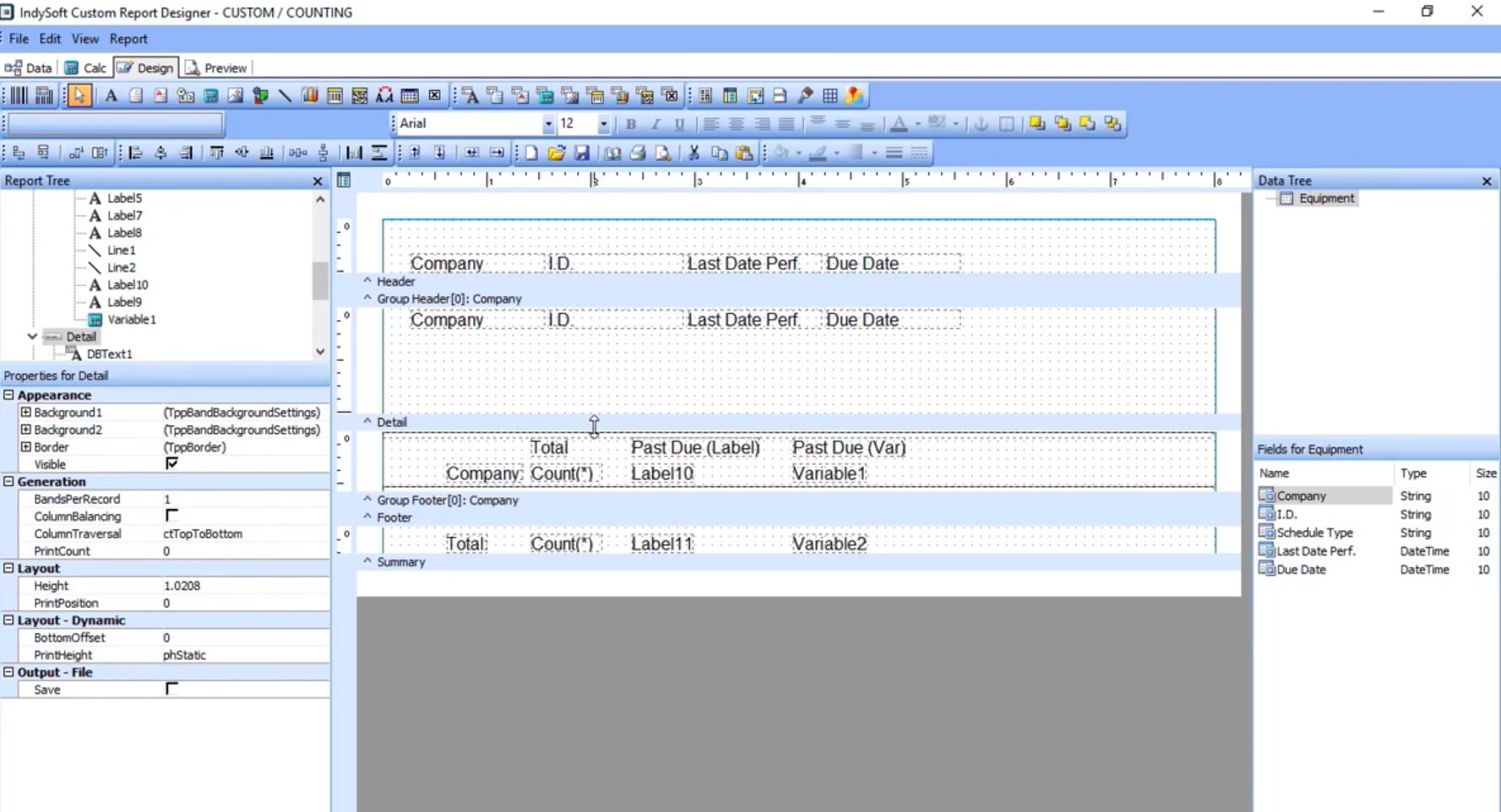 IndySoft dashboard