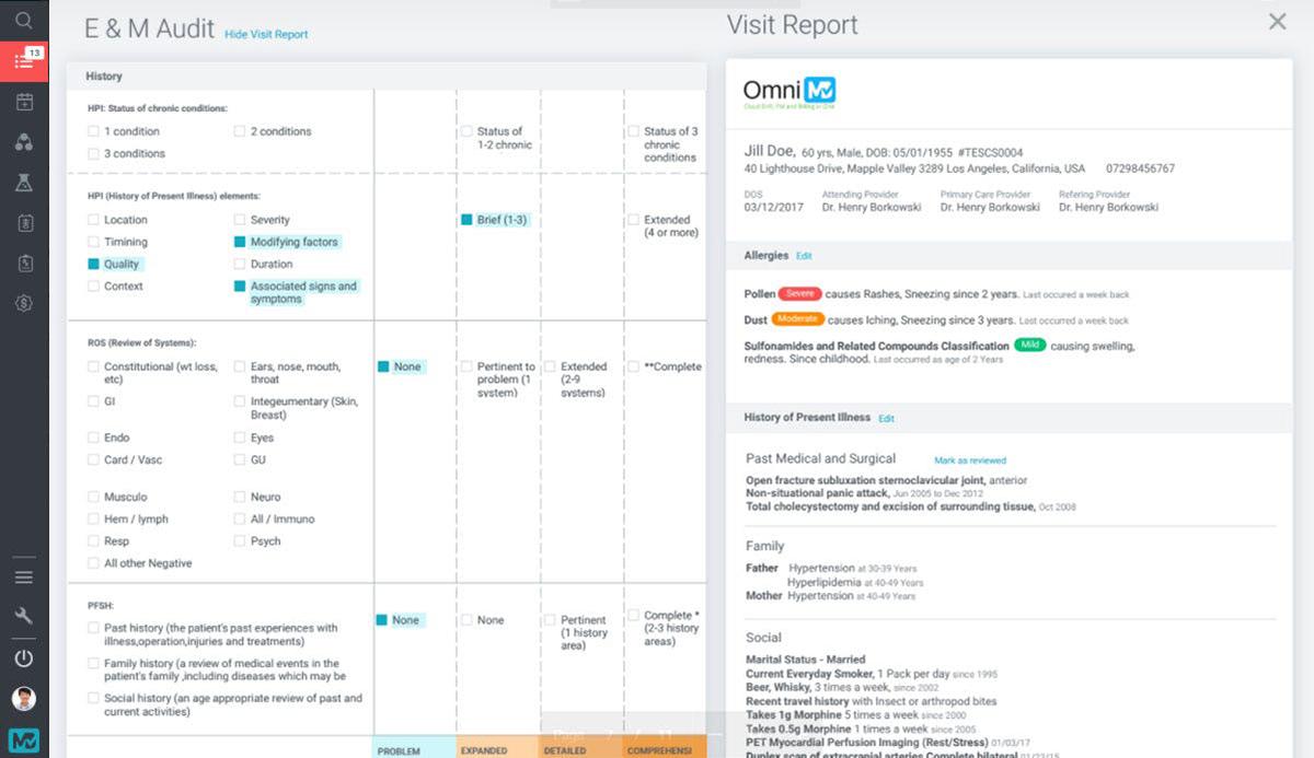 OmniMD EMR dashboard