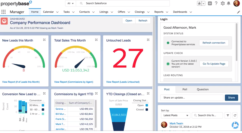 PropertyBase dashboard