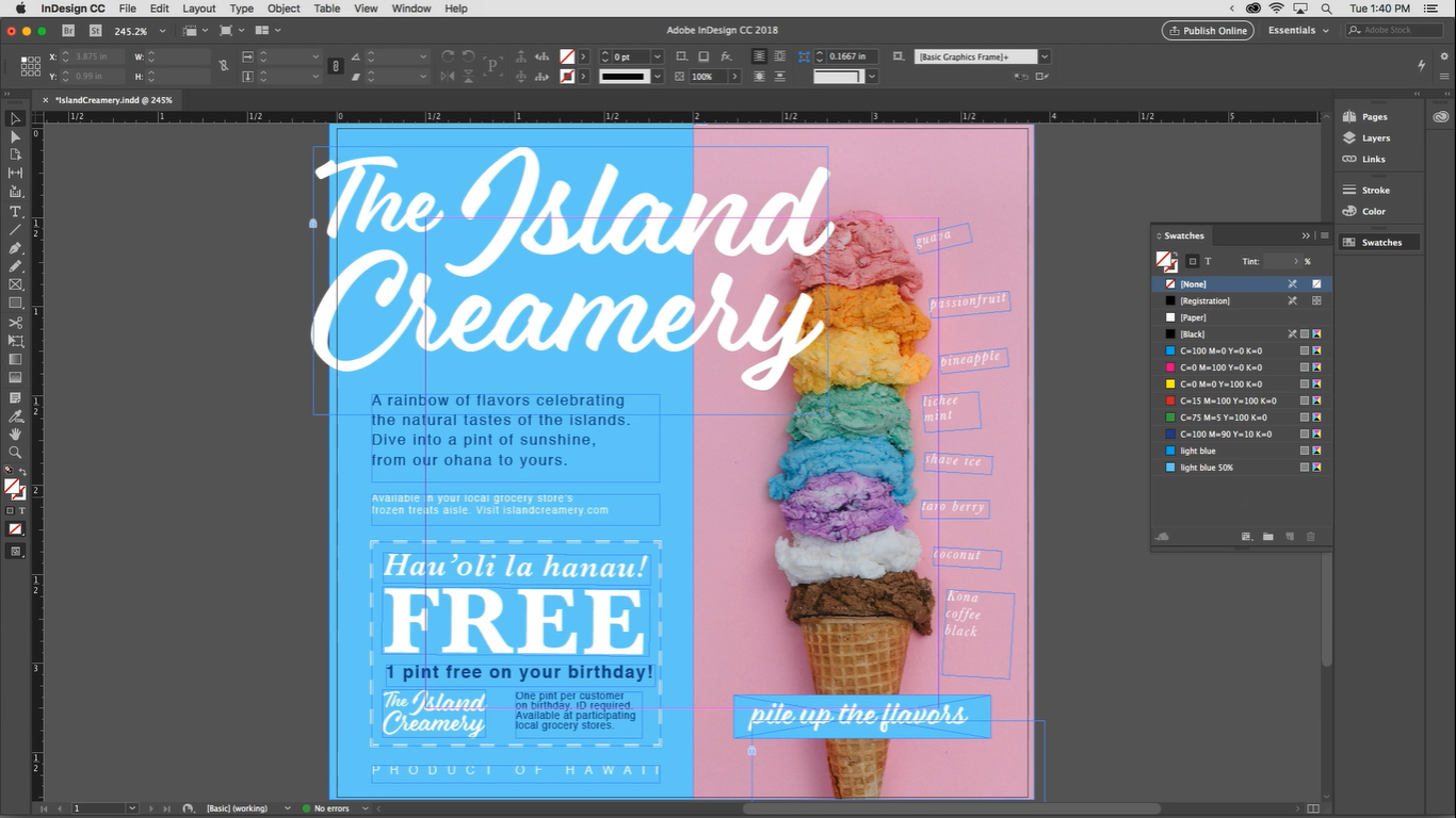Adobe InDesign Dashboard