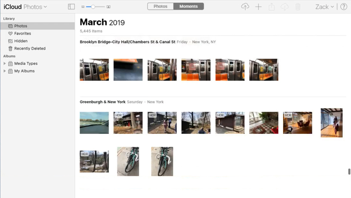 Apple iCloud Dashboard