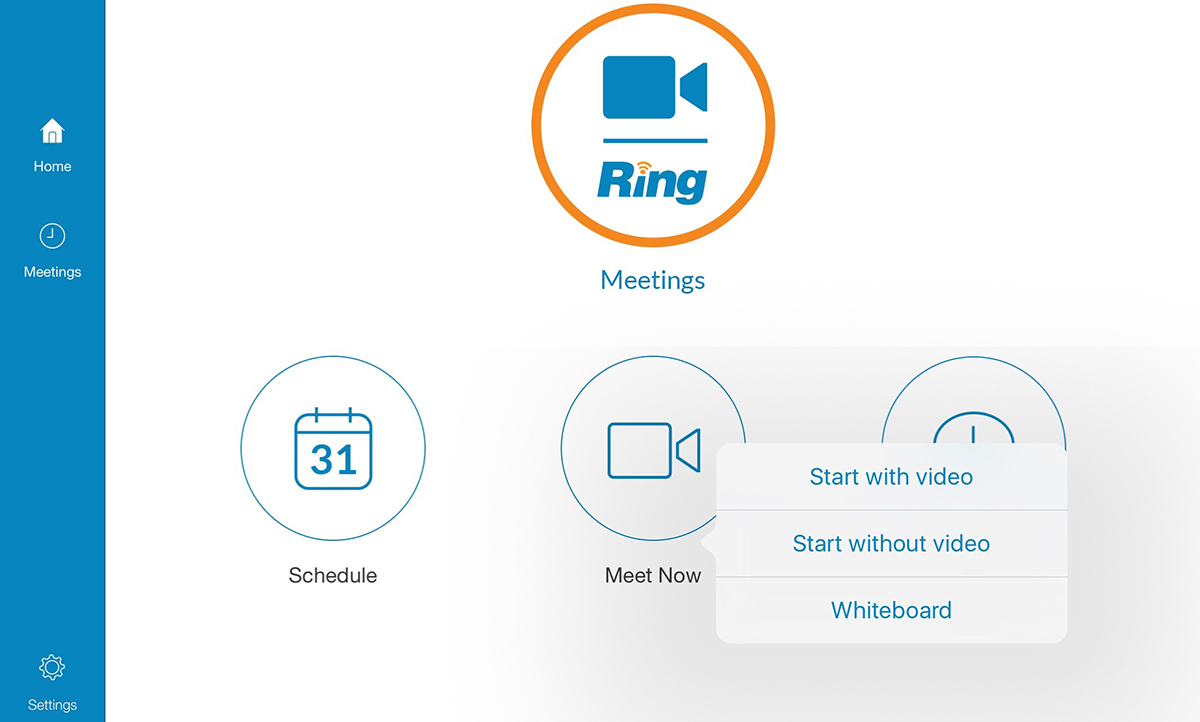 RingCentral Meeting dashboard