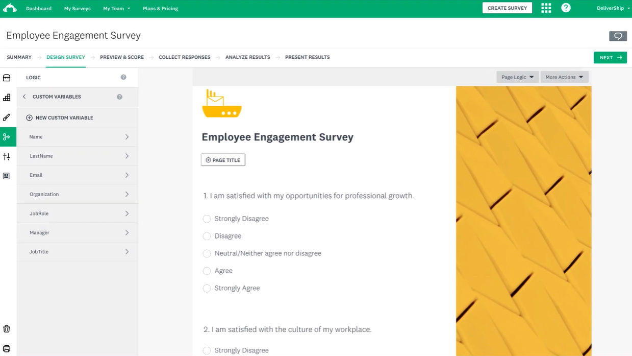 SurveyMonkey Dashboard