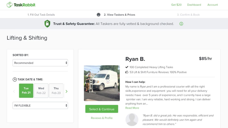 TaskRabbit Dashboard