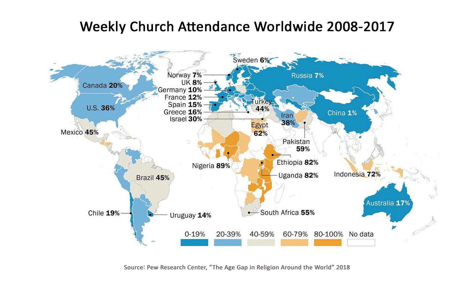 Global Worship Attendance infographic