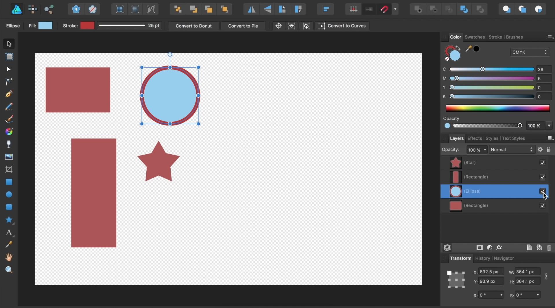 affinity designer dashboard
