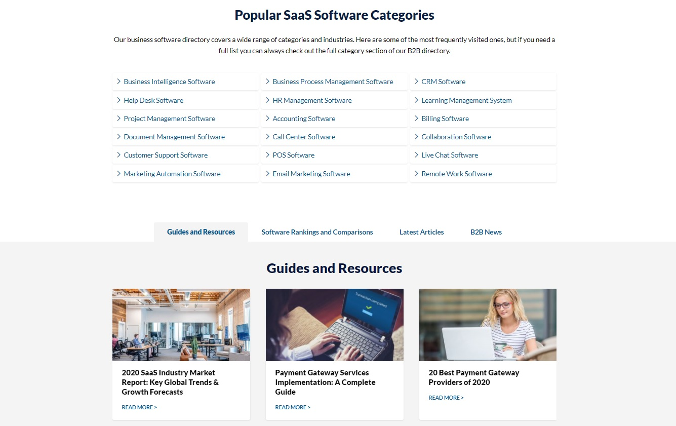 FinancesOnline reports and guides