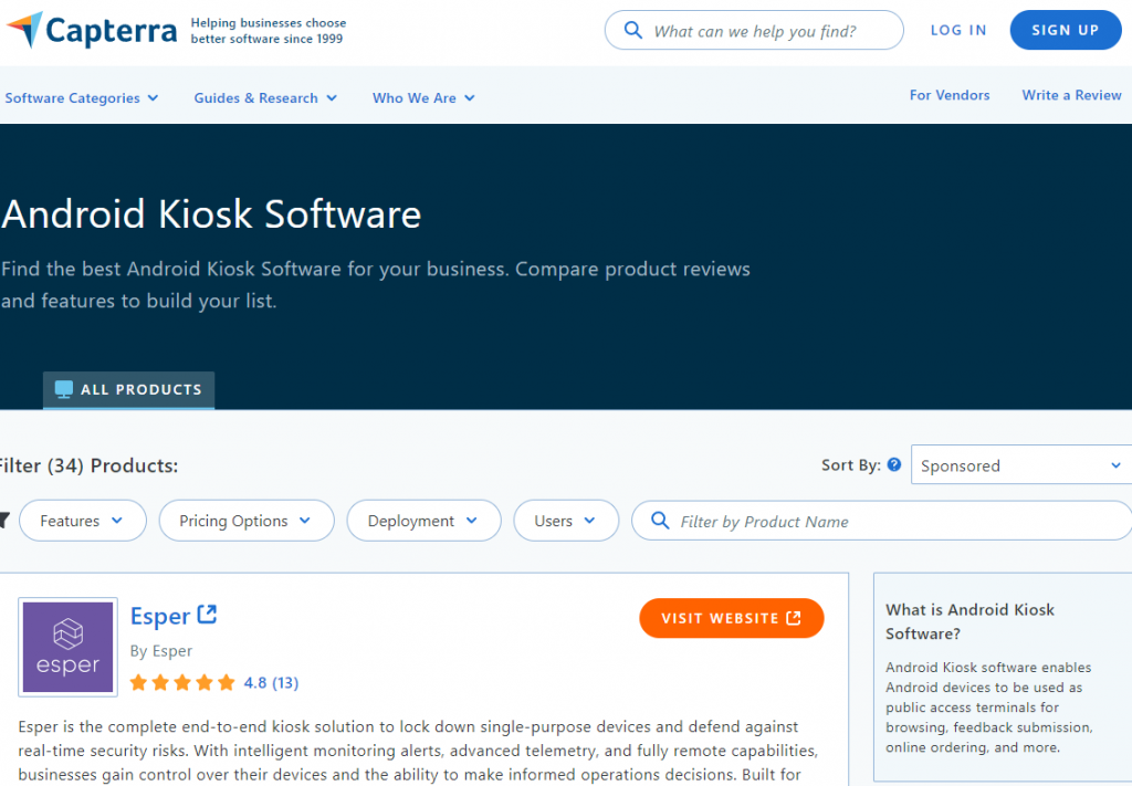 Capterra product review